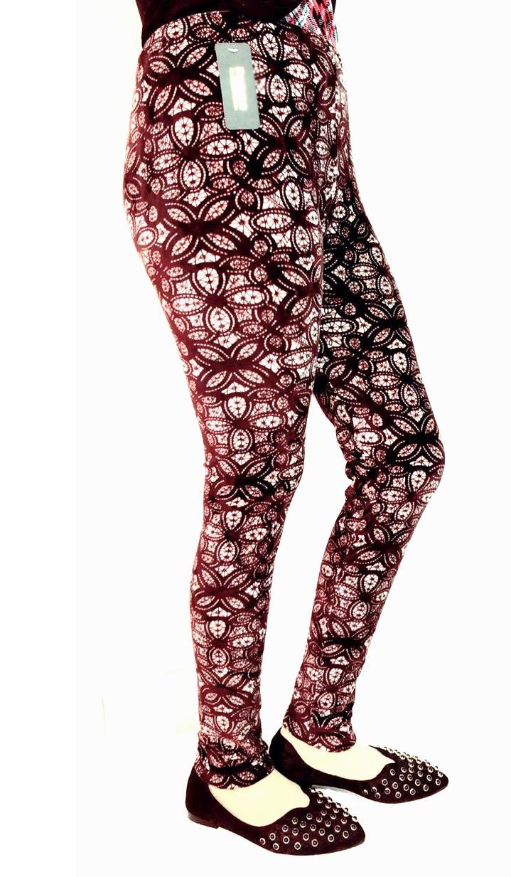 Velvet leggings