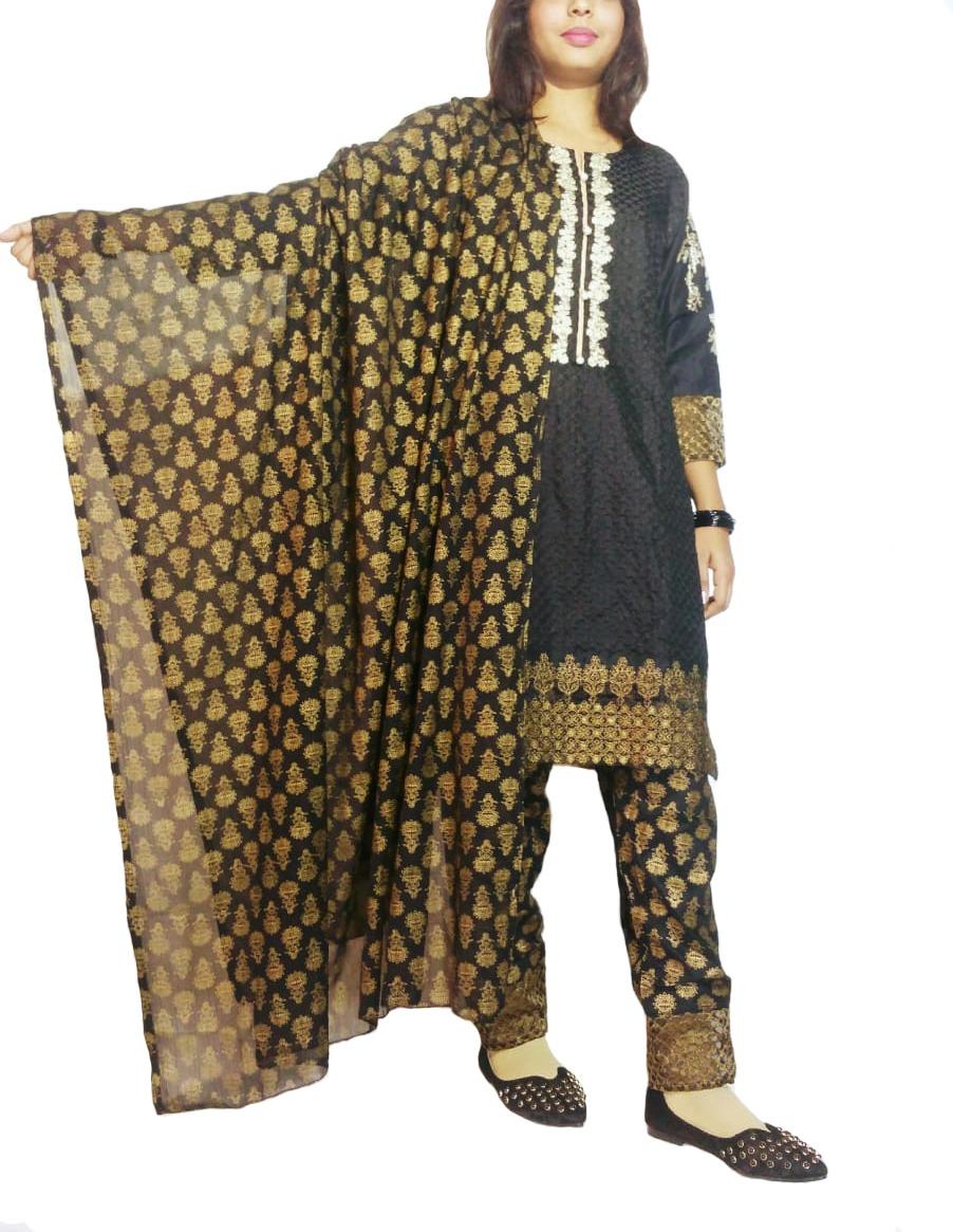 Black shalwar suit