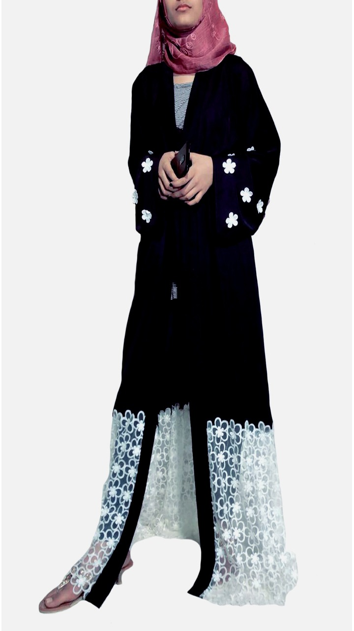 NET DETAILED ABAYA